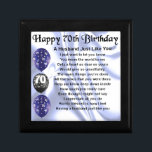 "Husband Poem - 70th Birthday Gift Box<br><div class=""desc"">A great gift for a husband on his 70th birthday</div>"
