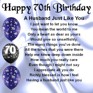 Husband 70th Birthday Gifts On Zazzle