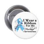 Husband Prostate Cancer Ribbon 2 Inch Round Button