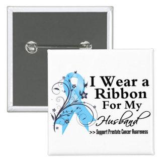 Husband Prostate Cancer Ribbon Button