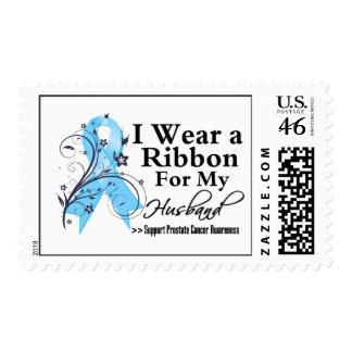 Husband Prostate Cancer Ribbon Stamp