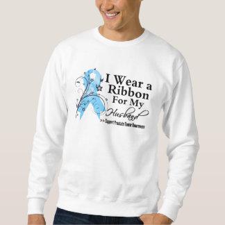 Husband Prostate Cancer Ribbon Pullover Sweatshirt