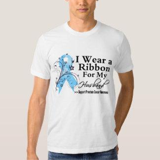 Husband Prostate Cancer Ribbon T Shirts