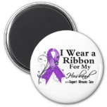 Husband Purple Ribbon - Pancreatic Cancer Refrigerator Magnets
