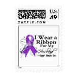Husband Purple Ribbon - Pancreatic Cancer Stamps