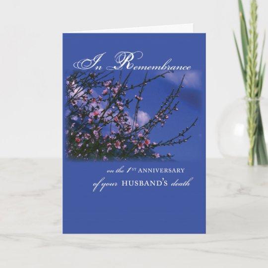 Husband remembrance 1st anniversary card zazzle husband remembrance 1st anniversary card m4hsunfo