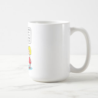 Husband sees other women—they leave shades up. coffee mug