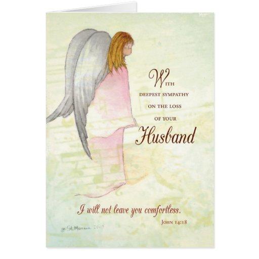 Husband Sympathy Angel Greeting Cards Zazzle