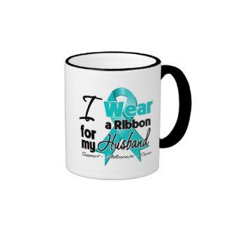 Husband - Teal Awareness Ribbon Coffee Mugs