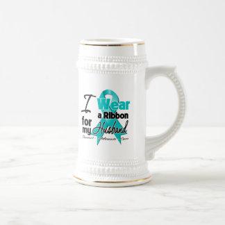 Husband - Teal Awareness Ribbon Mugs