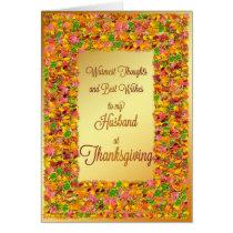 Husband Thanksgiving, fall leaves Card