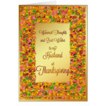 Husband Thanksgiving, fall leaves Greeting Card