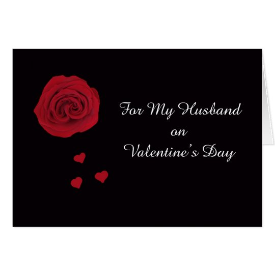 Husband Valentine Poem Card