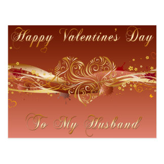 Husband Valentine Postcard