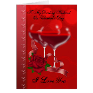 Husband Valentine s Day Card With Heart Glasses