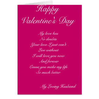 Husband valentine s day greeting cards