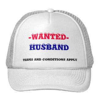 HUSBAND WANTED! TRUCKER HAT