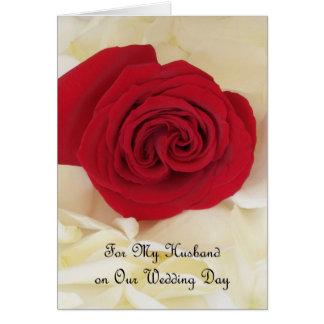 Husband Wedding Card -- For My Husband