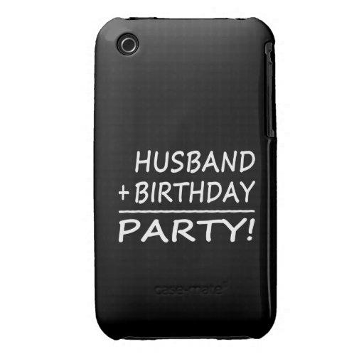 Husbands Birthdays : Husband + Birthday = Party iPhone 3 Case-Mate Case
