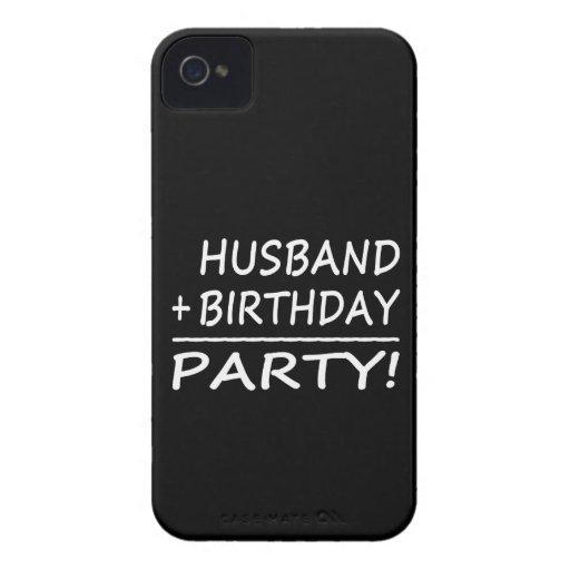 Husbands Birthdays : Husband + Birthday = Party Case-Mate iPhone 4 Case