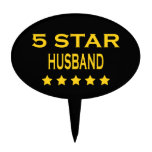 Husbands Birthdays Valentines : Five Star Husband Cake Toppers