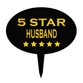Husbands Birthdays Valentines : Five Star Husband Cake Pick