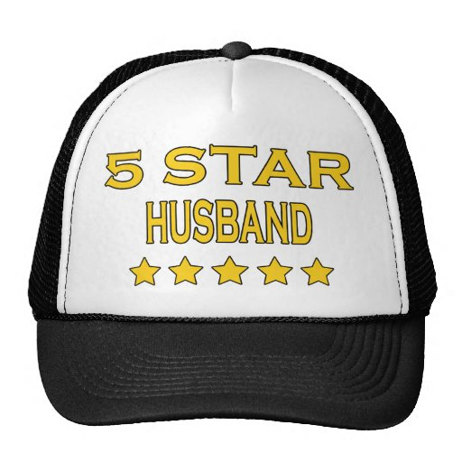 Husbands Birthdays Valentines : Five Star Husband Mesh Hats