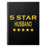 Husbands Birthdays Valentines : Five Star Husband Spiral Notebook
