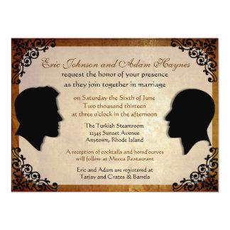 Husbands III Custom Gay Wedding Invitations