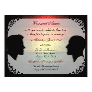 Husbands IV Custom Gay Wedding Invitations
