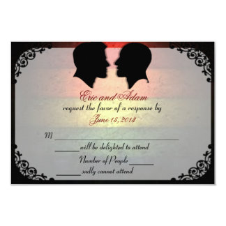 Husbands IV Custom Gay Wedding RSVP Cards