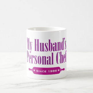 Husbands Personal Chef, Since 1986 Classic White Coffee Mug
