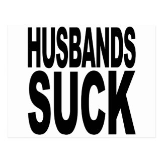 Husbands Suck Postcard