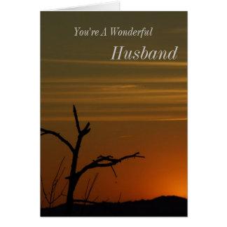 Husbands Sunset Greeting Card