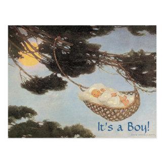 Hush-a-Bye, Baby Nursery Rhyme Baby Boy Postcard