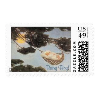 Hush-a-Bye, Baby Nursery Rhyme – New Baby Stamp