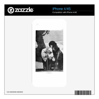 Hush by Francisco Goya Skin For The iPhone 4