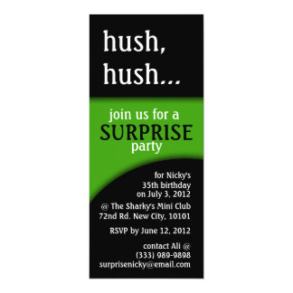 hush, hush birthday surprise card