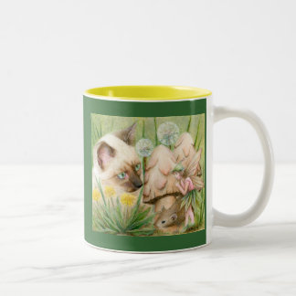 Hush Little Mouse Two-Tone Coffee Mug