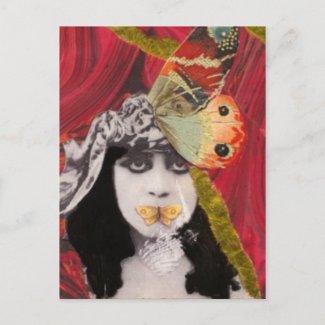 Hush postcard