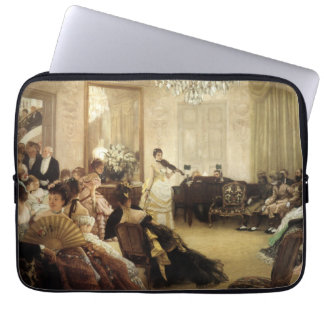 Hush, the Concert by James Tissot Fine Art Laptop Sleeves