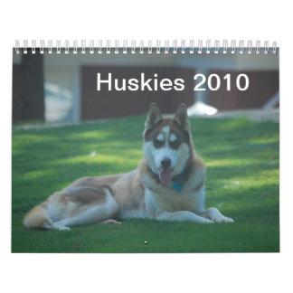 Huskies 2010 wall calendar
