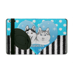 Powis iCase iPad Case with Kickstand with Siberian Husky Phone Cases design