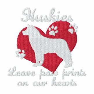 Huskies Leave Paw Prints Dark Hoodie