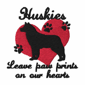 Huskies Leave Paw Prints Hoodies