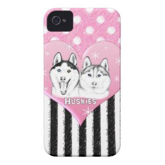 Huskies pink pattern iPhone 4 Case-Mate case
