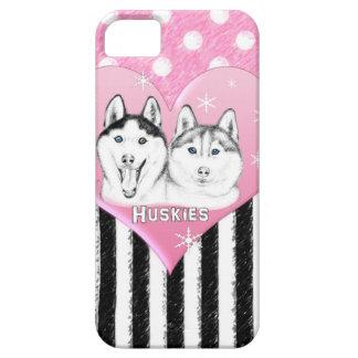 Huskies pink pattern iPhone SE/5/5s case