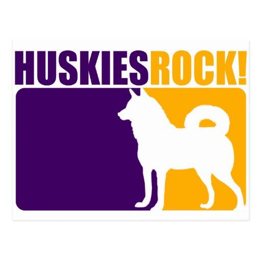 Huskies Rock #2 Postcard