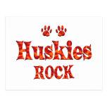 Huskies Rock Postcard