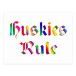 Huskies Rule Postcard